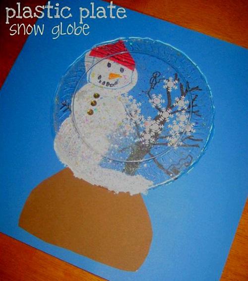 детский снеговик поделка