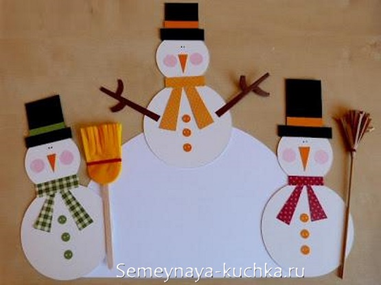 поделка снеговик детский