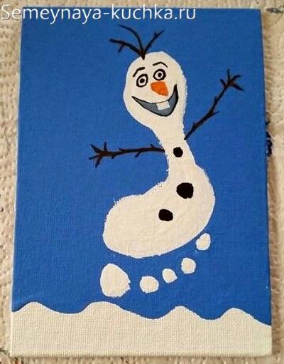 детский снеговик поделка в садик
