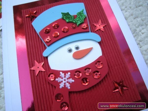 аппликация детская снеговик на открытку