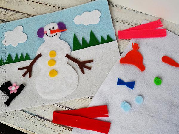 поделка снеговик детская