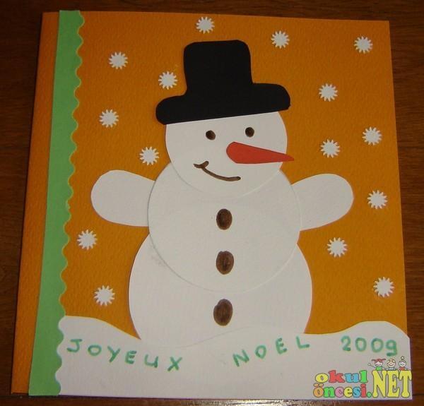 детская поделка снеговик из бумаги