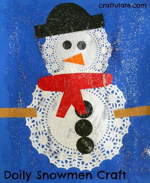 поделка детская снеговик из салфеток