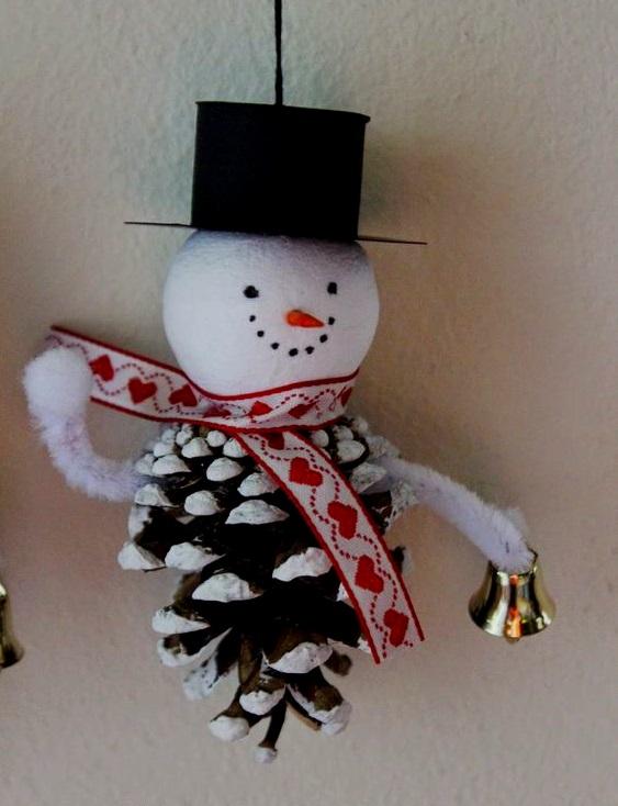 поделка снеговик из пластилина