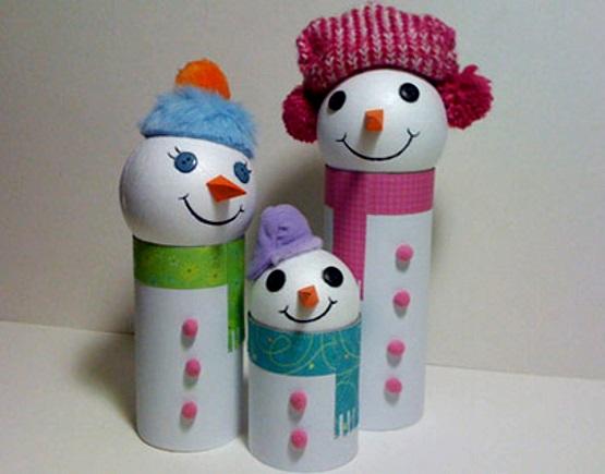 поделка снеговик для детей в садик