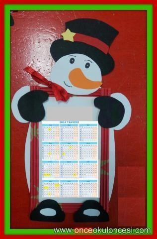 поделка снеговик на календарь в детском саду