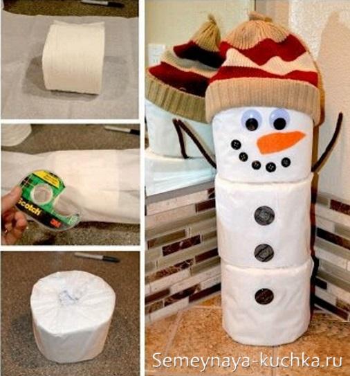как быстро сделать снеговика