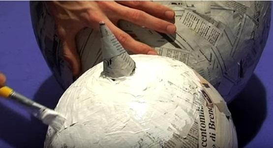 как сделать снеговика из шара