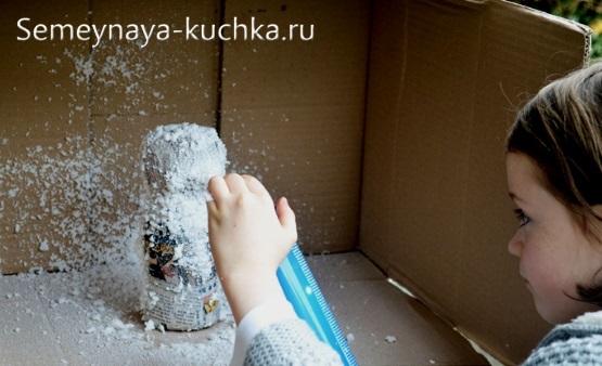 как сделать снеговика из бутылки