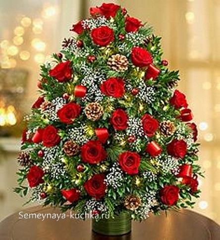 новогодний букет елка