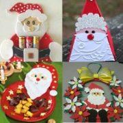 Новогодний Дед Мороз (82 поделки для школы и сада).