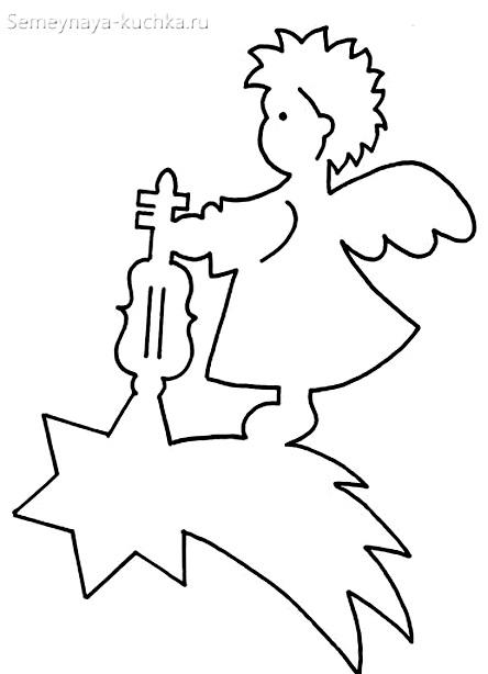 новогодний шаблон ангел