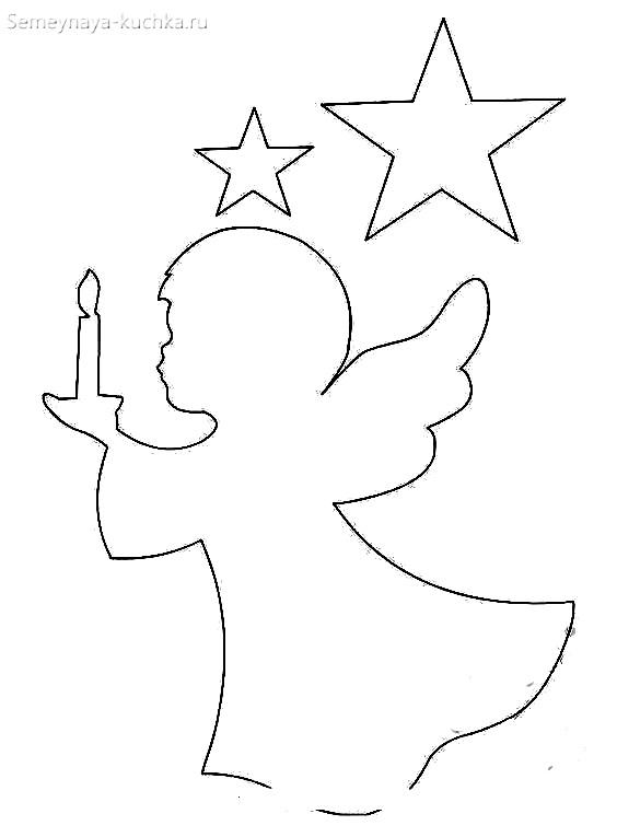ангел шаблон новогодний