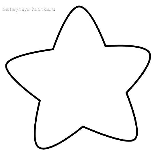 новогодний шаблон звезда