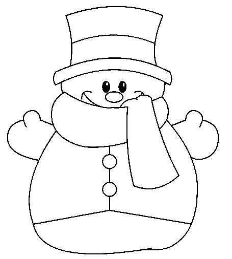 новогодний шаблон снеговик