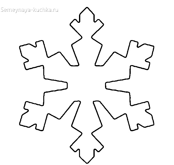 новогодний шаблон для снежинки