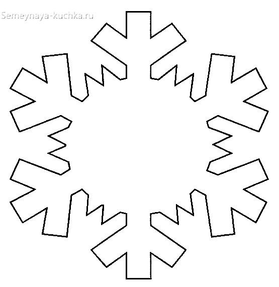 новогодний шаблон снежинка