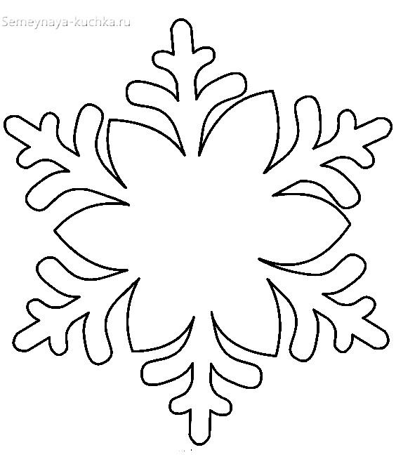 новогодний шаблон снежинка большая