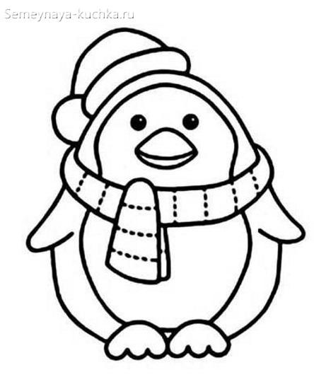шаблон пингвин