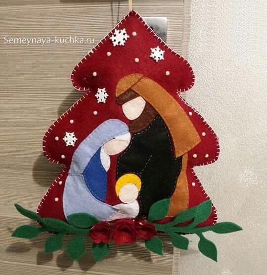 новогодний шаблон рождество христово