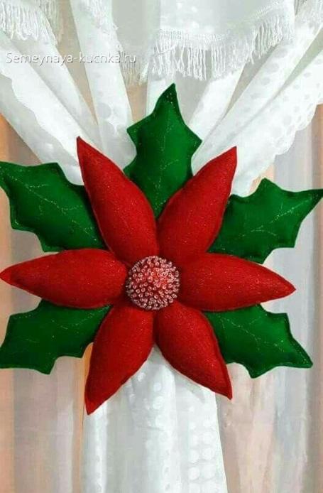 новогодний цветок поделка с шаблоном