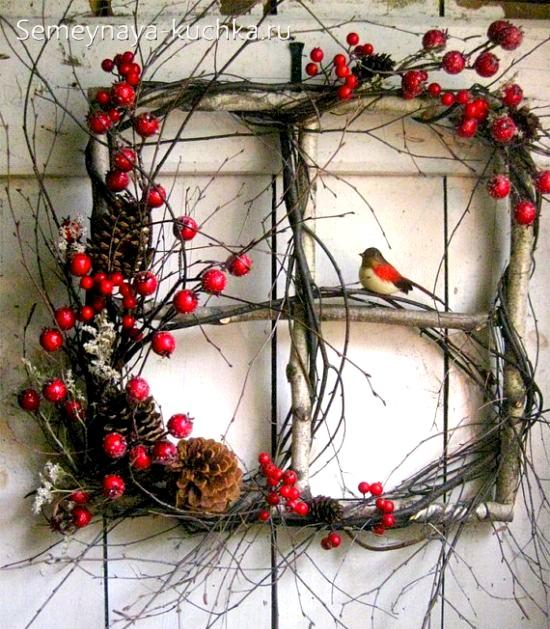 поделка из дерева на новый год сделать самим