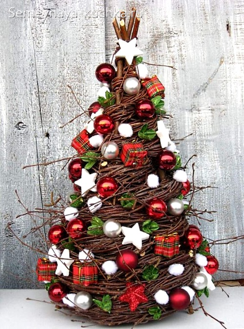 елка из веток на новый год