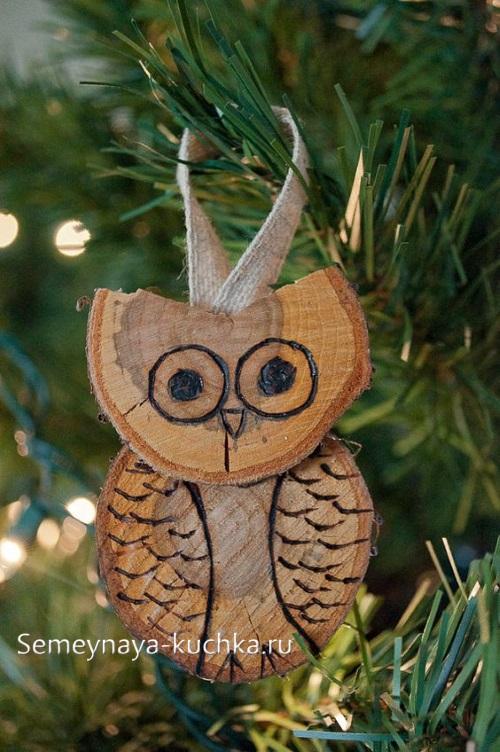 украшение для елки из дерева