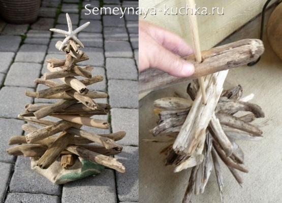 елка новогодняя деревянная как сделать