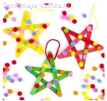 звезда на новый год из дерева