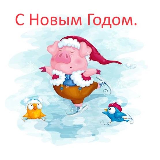 открытка со свинкой