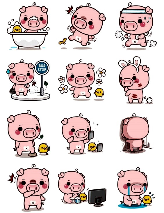 картинка свинка для открыток