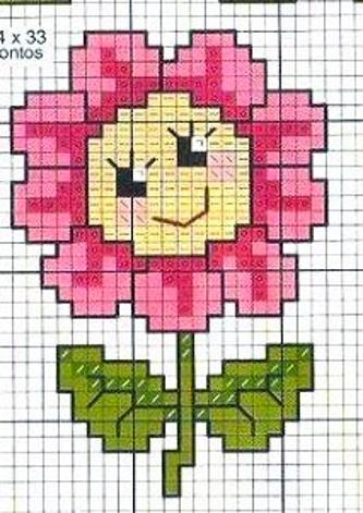 цветок детская вышивка крестиком