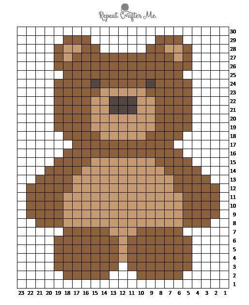 медвежонок детская вышивка крестиком
