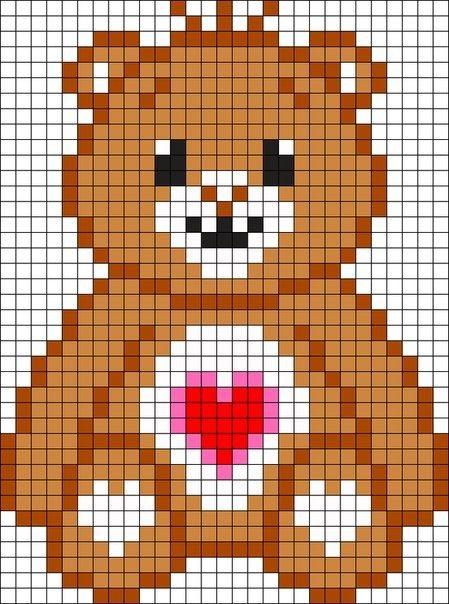 медведь схема вышивка для детей