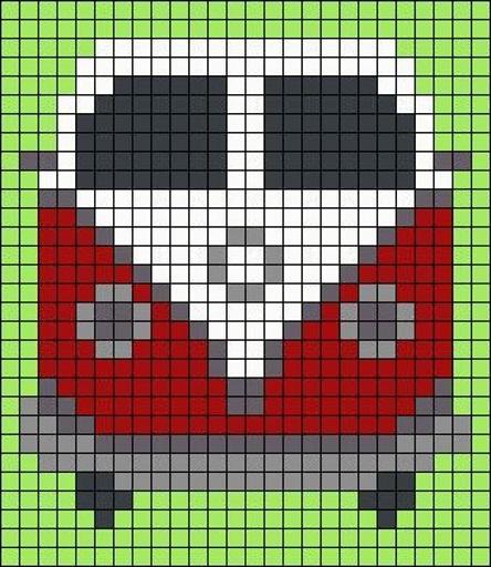автобус детские схемы крестиком