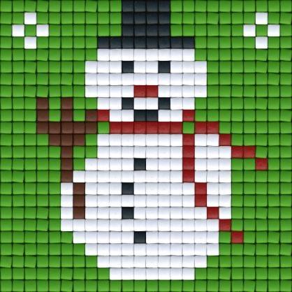 снеговик детские схемы крестиком