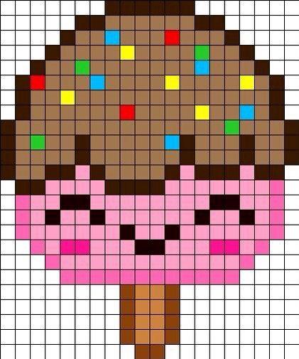 мороженое детские схемы крестиком