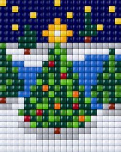елочка новый год детские схемы крестиком