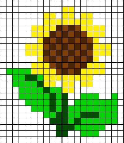 цветок подсолнух детские схемы крестиком