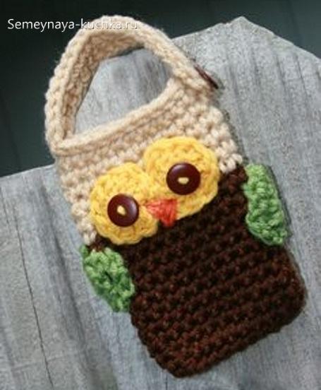 сумка сова вязаная крючком