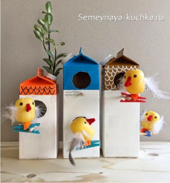 весенние поделки с птичками