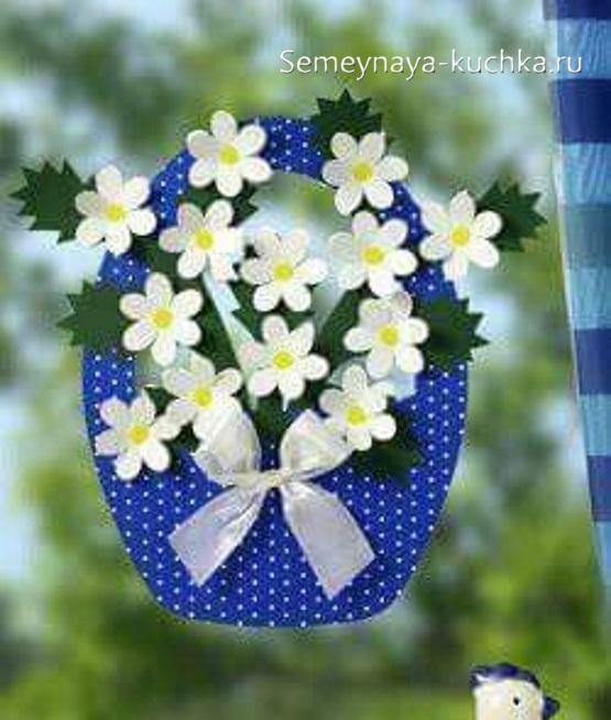 весенние поделки корзина весенних цветов