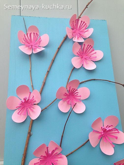 весенние цветы из бумаги
