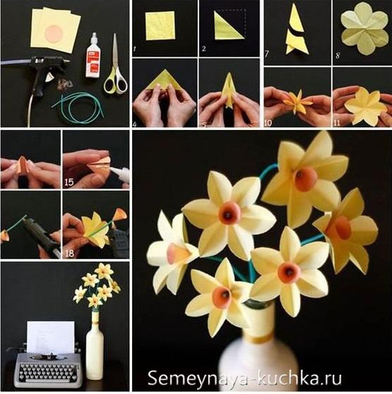 весенние поделки цветы для букета