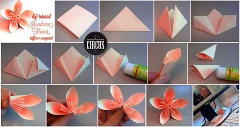 схема мастер класс весенние поделки цветы