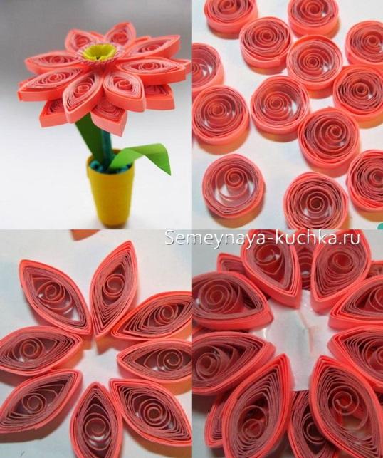 весенние цветы поделка из бумаги