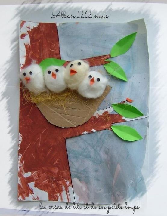 весенние поделки гнездышко с птенцами