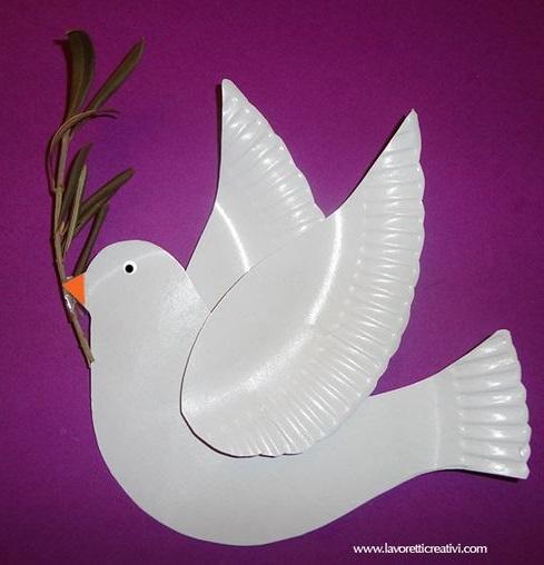 весенние поделки птица голубь