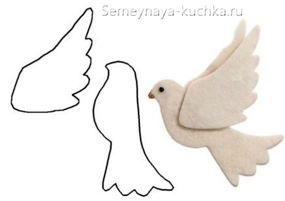 весенняя поделка голубь